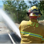 Firefighter cooling Sacramento