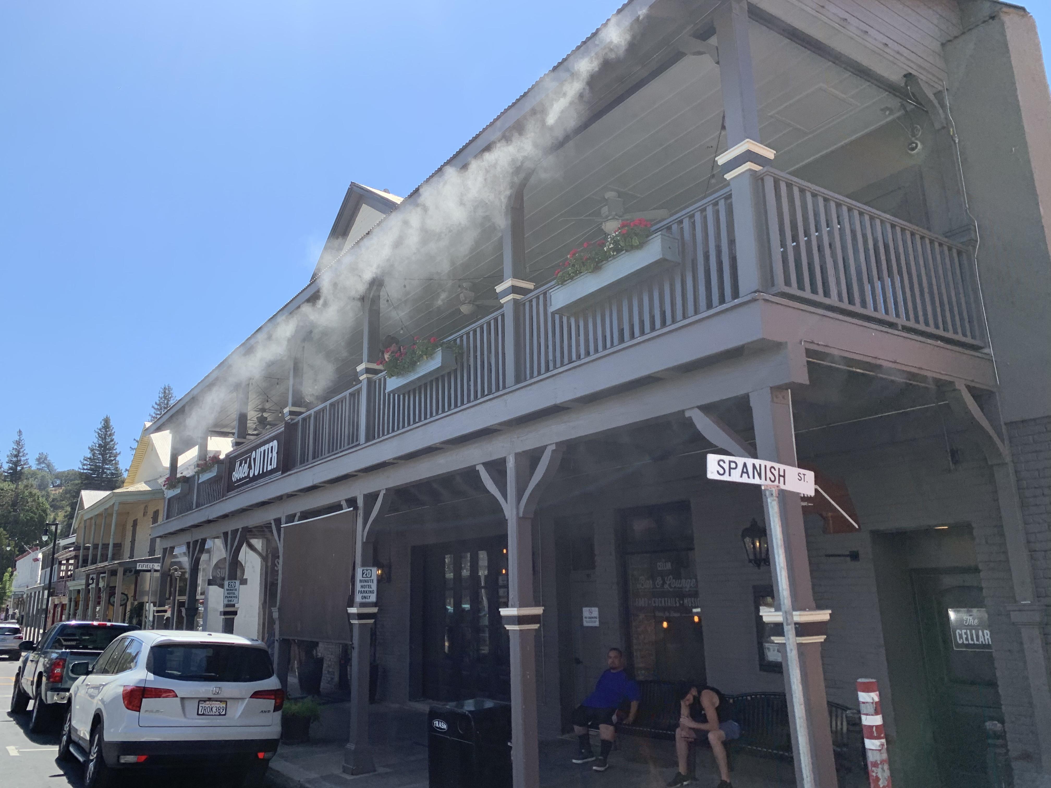 Sutter Street hotel misting